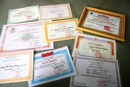 Bé P. nhiều năm là học sinh giỏi, đoạt huy chương trong các kỳ thi Aerobic trẻ
