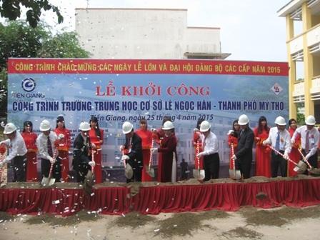 Khởi công xây dựng Trường THCS Lê Ngọc Hân