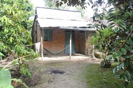 Căn nhà ông Lục nơi xảy ra vụ hỗn chiến.
