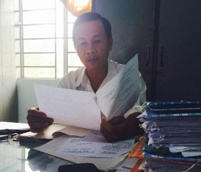 Ông Phạm Văn Nung, tiếp xúc với PV Dân trí