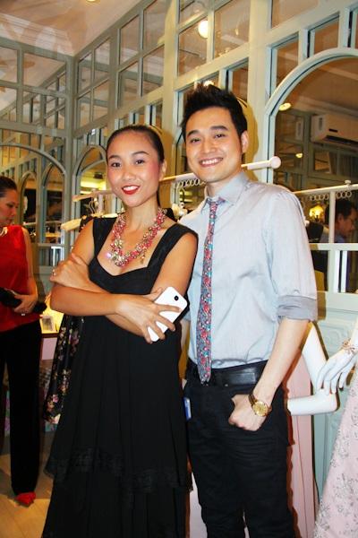 Đoan Trang và ca sĩ Quang Vinh