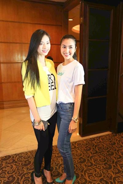 Ngô Thanh Vân khoe dáng với Tăng Thanh Hà