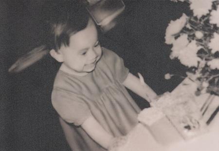 Thanh Thảo trong ngày sinh nhật tròn một tuổi