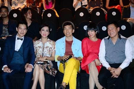 Vợ chồng NTK (nhà thiết kế)Quốc Huy, Nguyễn Cao Kỳ Duyên và bạn trai
