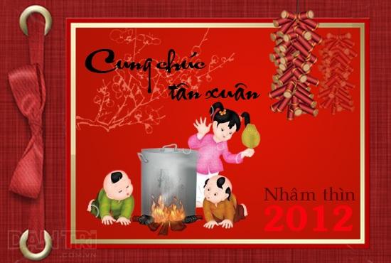 Gửi lời chúc mừng năm mới với Ecard Dân trí - 2