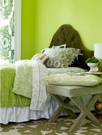 Phòng ngủ ngập tràn sắc thiên nhiên