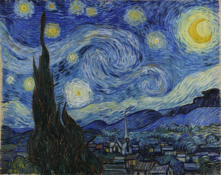 Tác phẩm Đêm đầy sao của danh họa Van Gogh là cảm hứng tạo nên con đường tự phát sáng