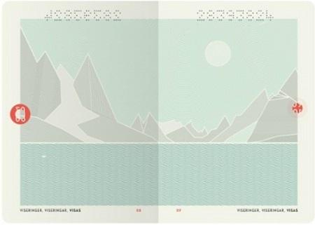 Mẫu hộ chiếu mới của Na Uy có ba màu xanh ngọc, trắng xám và đỏ