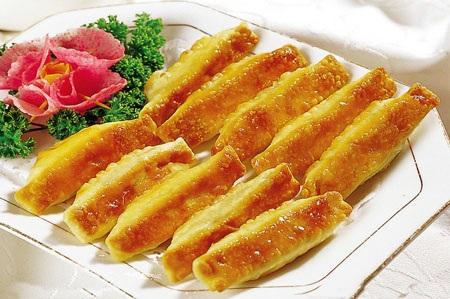Những chiếc bánh vàng ruộm thơm ngon.