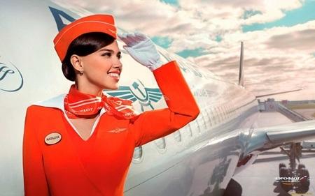 Nữ tiếp viên xinh đẹp của Aeroflot Airway