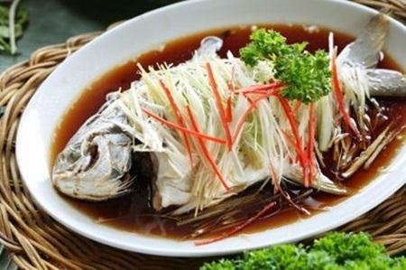 Món cá trong bữa tiệc đón năm mới của người Hoa