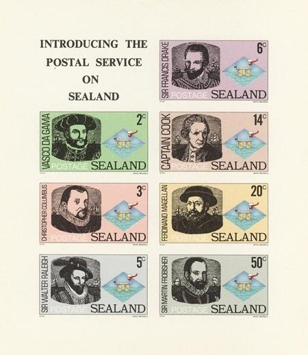 Sealand cũng phát hành tem bưu chính riêng