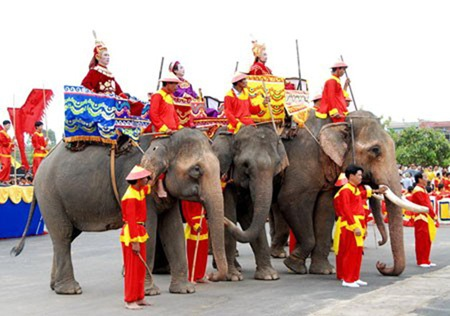 Lễ hội tổ chức trên miền đất võ nhằm tưởng nhớ vị anh hùng áo vải Quang Trung.