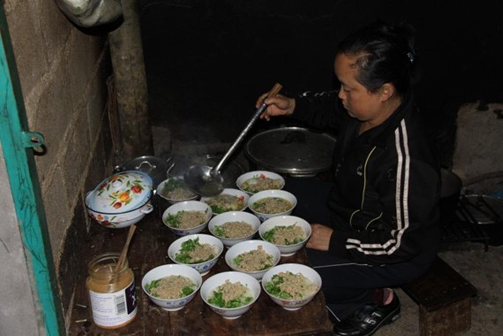 Một quán cháo ấu tẩu ở Hà Giang