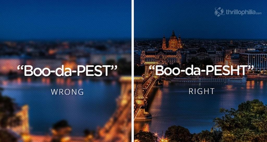 """Thủ đô Budapest của Hungary phải là """"Boo-da-pesht"""""""