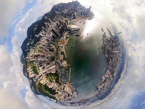 Hong Kong Skyline nhìn từ trên cao