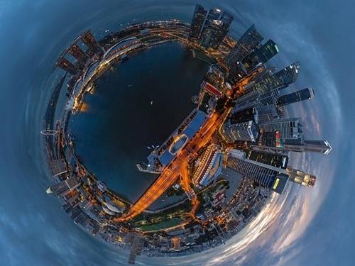 Vịnh Marina của Singapore hiện lên đầy vẻ lộng lẫy