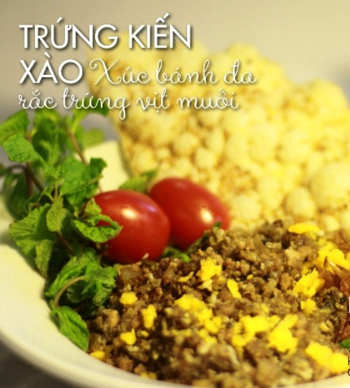 Nếu đã đi ăn trứng kiến, bạn nên thử món này.