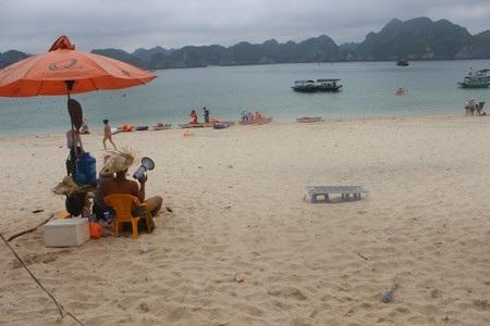 Hộp sữa, vỏ lon bia và ngay cả túi rác được du khách ngang nhiên quăng ra đảo, ra bãi biển…