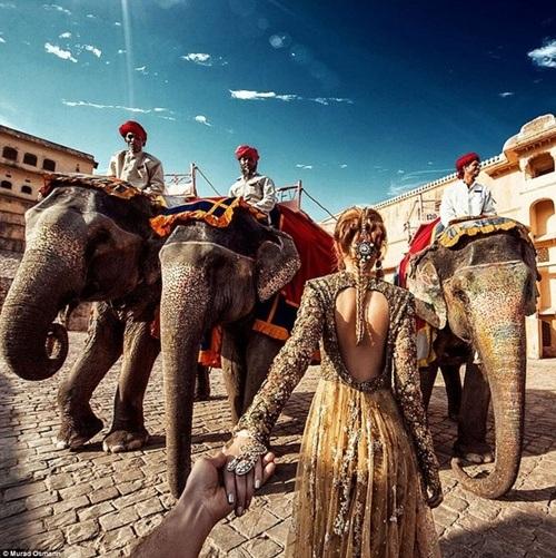 Pháo đài Amer tại thành phố Jaipur.