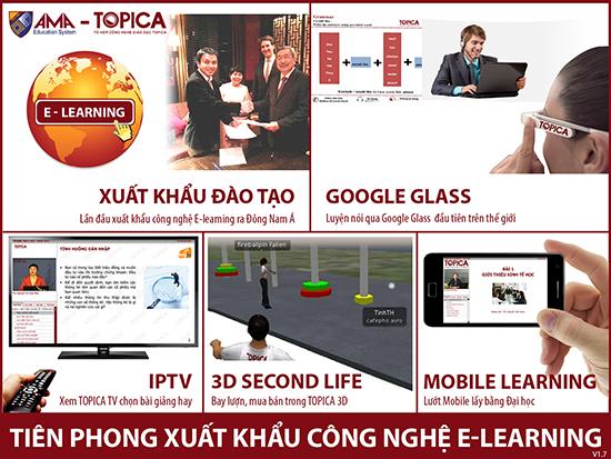 Những công nghệ đang được Topica ứng dụng trong chương trình đào tạo.