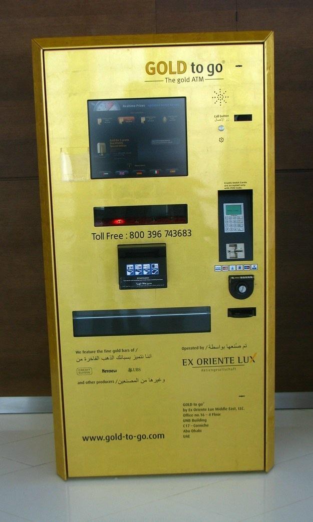 Máy rút vàng này chắc chỉ có tại Dubai