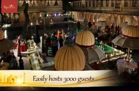Khu vực tổ chức đám cưới này đủ chỗ cho 3.000 khách.