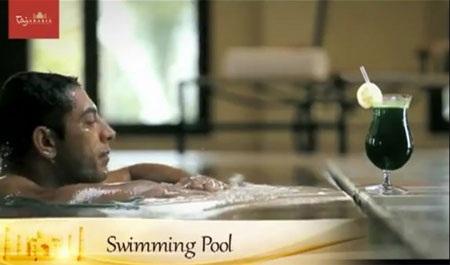và cả bể bơi…