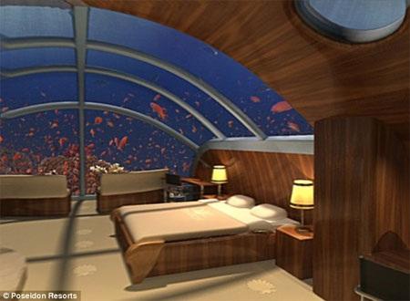 Các du khách chịu chi sẽ có một tuần trải nghiệm thú vị với khách sạn dưới biển.