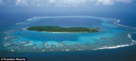 Poseidon sẽ được xây dựng ở ngoài bờ một hòn đảo tư ở Fiji.