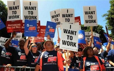 Tỷ lệ thất nghiệp của Mỹ hiện còn ở mức 7,5% - Ảnh: Telegraph