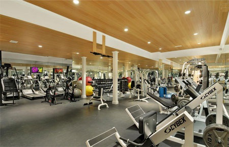 Phòng tập thể dục tiện nghi và hiện đại.