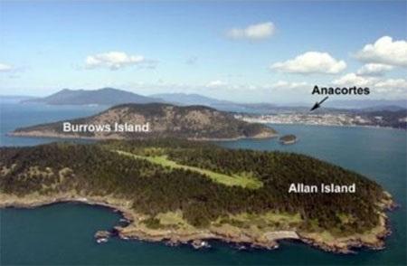 Hòn đảo nằm ngoài khơi bờ biển thành phố Anacortes thuộc bang Washington của Mỹ.