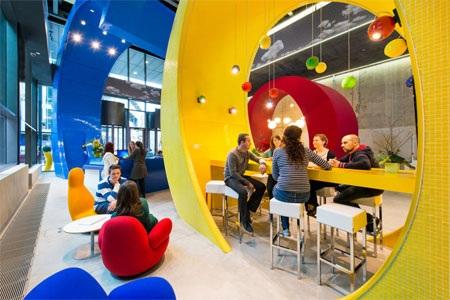 Bên trong một văn phòng của Google.