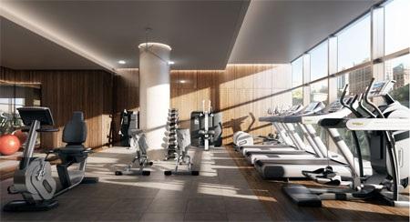 … và một phòng tập thể thao hiện đại.