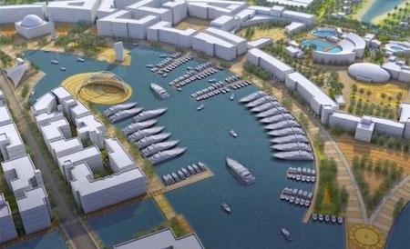 Bờ biển Qatar, nơi dự kiến đặt đảo nổi nhân tạo Oryx Island.