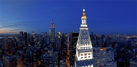 Căn nhà có hướng nhìn ra toàn cảnh thành phố New York.