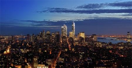 Tháp Freedom ở khu trung tâm Manhattan nhìn từ căn penthouse mới của tỷ phú Murdoch.