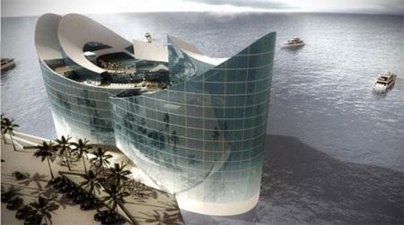 Còn đây là một số hình ảnh thiết kế đảo nổi Oryx Island: