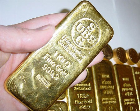 Dự trữ vàng tính đến cuối năm 2013: 1.040,1 tấn