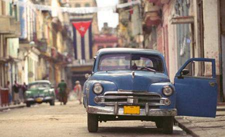 Một đường phố ở Havana, Cuba.