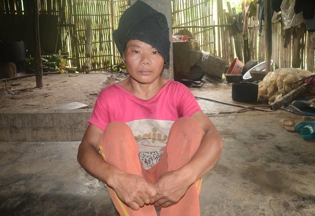 Chị Triệu Mùi Pham (35 tuổi) bị tâm thầntừ nhỏ, Chị thường bỏ nhà đi lang thang…