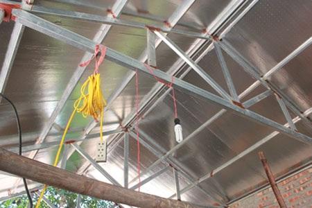 Nhà lợp mái tôn không có chống nóng
