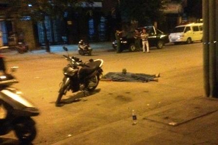 Hiện trường vụ nổ súng khiến Bùi Văn Mạnh trúng đạn tử vong.