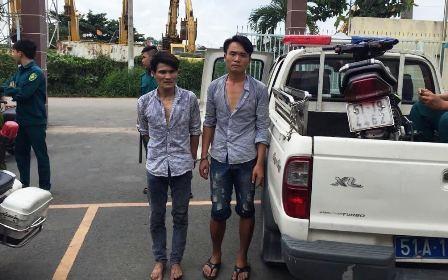 2 tên cướp cùng phương tiện gây án bị CSGT bắt giữ
