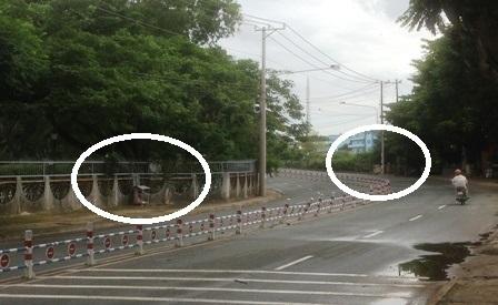 Tại khúc cua dốc này người dân đã tự lập 2 miếu cô hồn để cảnh báo tai nạn.