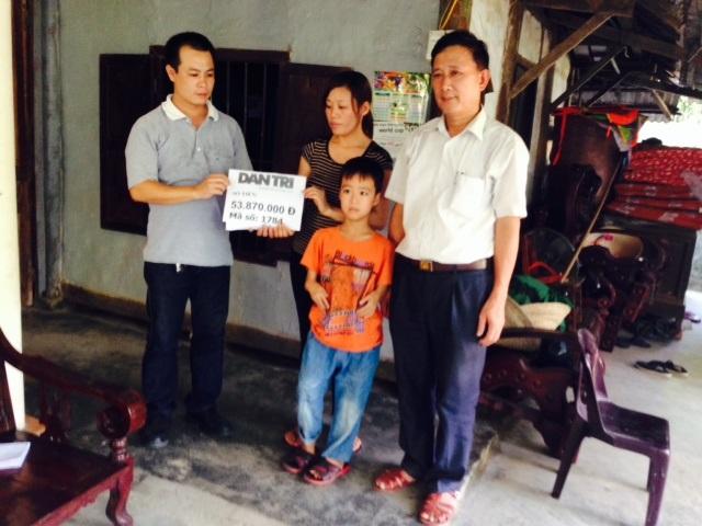 Gia đình chi Trương Thị Ý nhận số tiền gần 54 triệu đồng