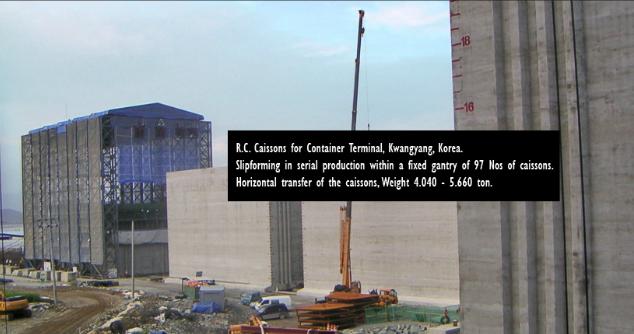 Công trình sản xuất giếng chìm Cảng Container R.C Caissone, Kwangyang, Hàn Quốc