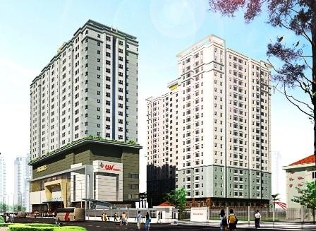 Phối cảnh dự án Saigonres Plaza (đường Nguyễn Xí, P.26, Q.BìnhThạnh).