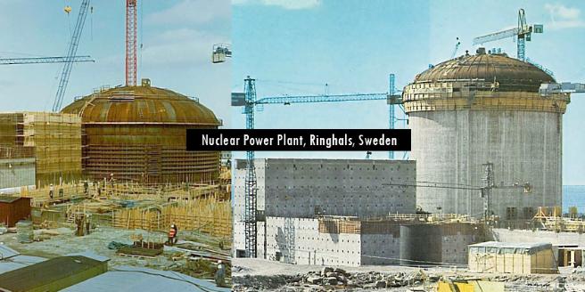Công trình nhà máy điện nguyên tử Thụy Điển.